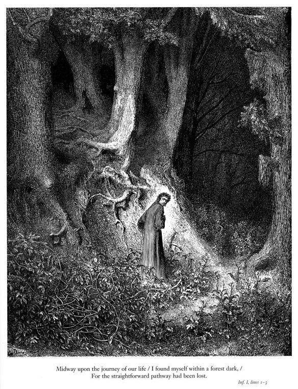 783px-Gustave_Doré_-_Dante_Alighieri_-_Inferno_-_Plate_1_(I_found_myself_within_a_forest_dark...)